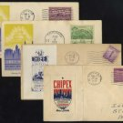 1937-1942 Chicago, Illinois Event Cover Lot (4), CHIPEX