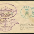 1934 USS Cuttlefish 1st Day Commission Event Cover