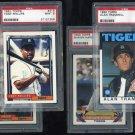 Detroit Tigers PSA Graded Topps Card Lot, Trammell+