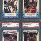 1989 Fleer Basketball Stickers PSA Graded Set, Jordan+