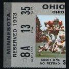 1973 Ohio State vs. Minnesota Ticket, Archie Griffin