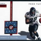 2005 Topps Prestine FRED TAYLOR Game Used Jersey Card