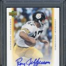2006 UD Legends ROY JEFFERSON Auto PSA 10 Steelers