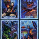 1994 Marvel Masterpieces Holofoil Insert Card Lot (4)