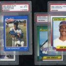 1989/1990 Rangers JUAN GONZALEZ PSA 8 Graded RC Lot (4)