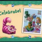 2005 37¢ Alice in Wonderland Stamp USPS Postcard