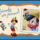2004 37¢ Jimmy Cricket & Pinocchio Stamp USPS Postcard