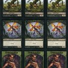 Elf Warrior, Faerie Rogue & Goblin Token MTG Card Lot