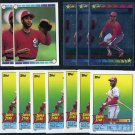 1989 Topps Stickercard OZZIE SMITH Lot, 12 Different