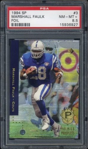 1994 Sp 3 Marshall Faulk Rc Psa Nm Mt 85 Colts