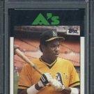 1986 Topps #645 DUSTY BAKER Card PSA 10 Oakland A's