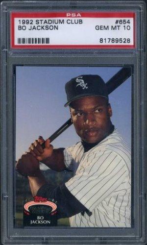 1992 Stadium Club 654 Bo Jackson Card Psa 10 White Sox