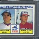 1984 Topps #216 White Sox Leaders (Carlton Fisk) PSA 10