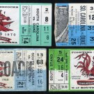 USC Gamecocks vs Duke Football Ticket Stub Lot