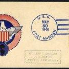 1946 USS Fort Mandan Ship Cancel w/US #803