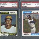 1974 Topps Baseball Graded PSA NM-MT 8 Lot (2)