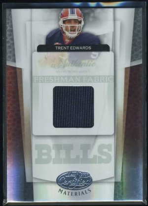 2007 Leaf Certified Mat. TRENT EDWARDS RC Jersey Card