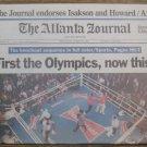 EVANDER HOLYFIELD Boxing Championship Atlanta Newspaper