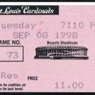 1998 Mark McGwire 62 & 69/70 Home Run Record Tickets