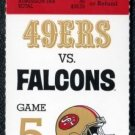 1992 49ers vs Falcons Full Ticket Jerry Rice, Young TDs
