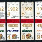 1992 San Francisco 49ers Ticket Lot; Young/Jerry Rice+