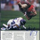 49ers STEVE YOUNG Signed Photo, PSA DNA BYU HOF