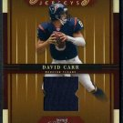 2005 Playoff Prestige Game Day Jersey DAVID CARR Card