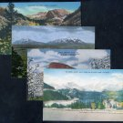 Colorado Mountains Postcard Lot (4) Vintage 1940s