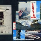 New London, Connecticut Postcard Lot (4) Submarines+