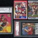 49ers JOE MONTANA Card Lot with PSA 1985 Topps+