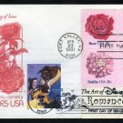 1981 Flower Stamps/2006 Disney Beauty & Beast Stamp FDC