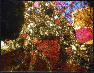 Bilanga Diogenite Meteorite Thin Section Postcard