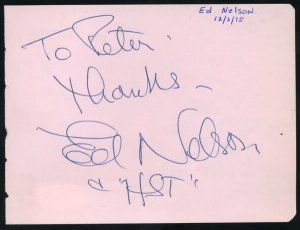 Ed Nelson & Theodore Bikel Signed Album Page PSA/DNA