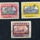 1957-1959 Kansas Quail Stamp Lot, Duck/Revenue/BOB