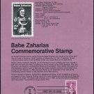 1981 18¢ BABE ZAJAROAS Golf Stamp Souvenir Page US 1932