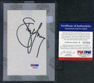 STEVE YOUNG Signed Index Card PSA/DNA Index HOF