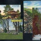 Colorado Linen Postcard Lot; Mineral Palace, Canyons+