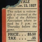 1937 Yale vs. Princeton Ticket, '37 Heisman Clink Frank