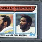1982 Topps 270 Dewey/Lee Roy Selmon Brothers Card PSA 9