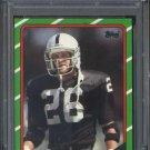 1986 Topps #75 Vann McElroy Card PSA 9 Raiders