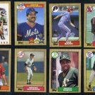 Large 1987 Topps Baseball Card Lot, 450+ Cards