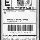 2007 Automated Postal Center EXPRESS Mail Stamp 90210