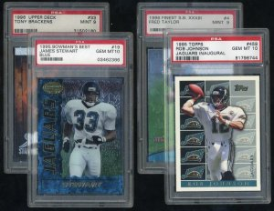 Jacksonville Jaguars PSA Graded Card Lot Fred Taylor RC
