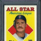 1988 Topps Tiffany #388 WADE BOGGS AS PSA 10 Red Sox