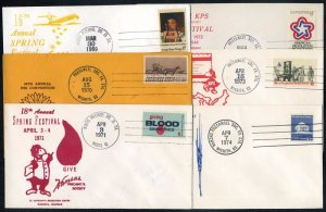 '69-'74 Kansas Precancel Society Event Canceled Covers