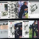 1992 Profiles JERRY GLANVILLE Autographed Card Set (9)