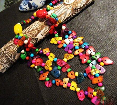 colorful necklace/Shangri-la necklace/ethnic jewelry