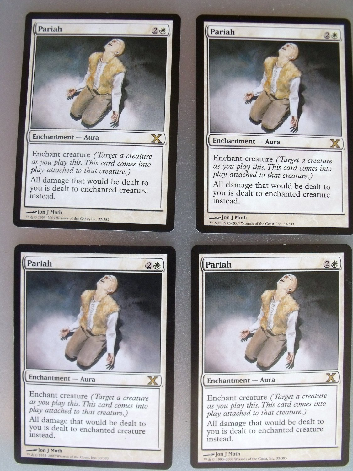 4x Pariah, Tenth Ed., VF, Magic the Gathering