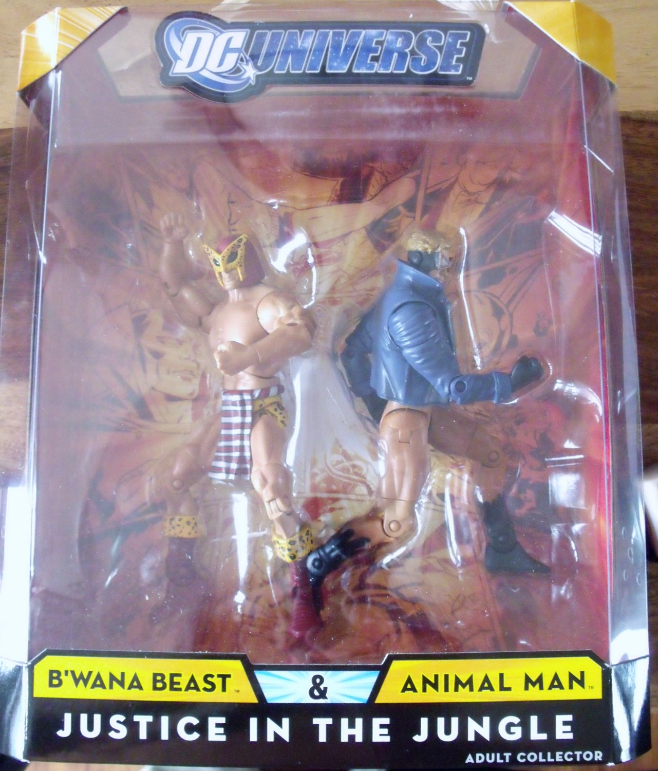 Justice in the Jungle DC Universe 2 Pack: B'Wana Beast & Animal Man