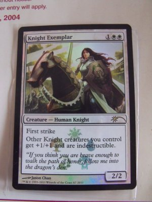 FOIL Promo Knight Exemplar, NM  Magic the Gathering